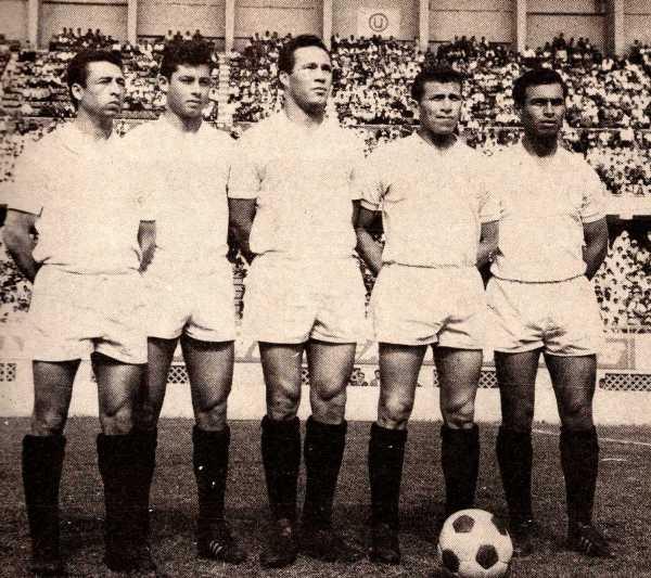 Calatayud, Challe, Cassaretto, Cruzado y, por supuesto, Uribe: referentes cremas de los '60 (Foto: libro 200 Clásicos de Historia, Lorenzo Villanueva Regalado)