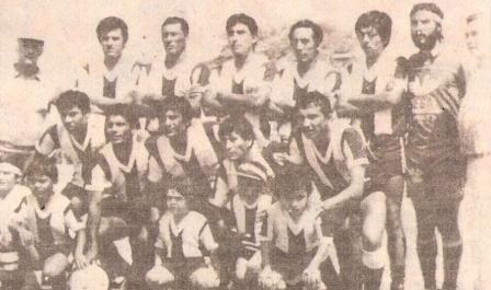 Alineación de Alianza Atlético en la temporada 1988. Gonzales es el segundo de los parados (Foto: diario El Comercio, suplemento Deporte Total)
