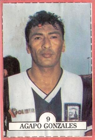 Siempre con gesto adusto, cara de viejo y el escudo de Alianza Atlético en el pecho, en la temporada 1992 (Cromo: álbum Estrellas del Fútbol 1992, revista Estadio)