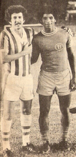 Con 'Titín' Drago antes de un Chalaco - Bolognesi en el Nacional (Foto: revista Ovación)