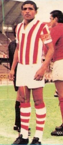 Con la divisa del Atlético Chalaco, 'Paco' Montero mantuvo su fútbol en el fútbol profesional luego del primer descenso de Torino (Foto: álbum Descentralizado 1974, Editorial Navarrete)