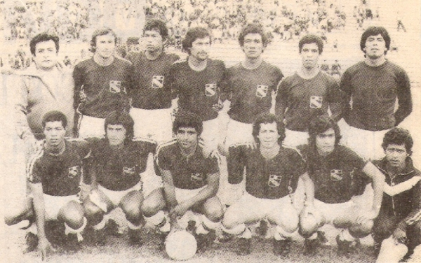Alineación del 'Taladro' en 1979. 'Paco' estuvo a un tris de consagrarse como goleador del certamen (Recorte: revista Ovación)