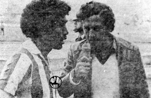 Con la camiseta de Huancayo FC en la última etapa de su carrera (Recorte: diario La Crónica)