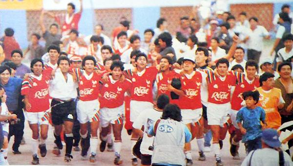Aurich/Cañaña, con Éver Guevara como valor importante, logró el título de la Copa Perú 1993. (Foto: revista La Deportiva)