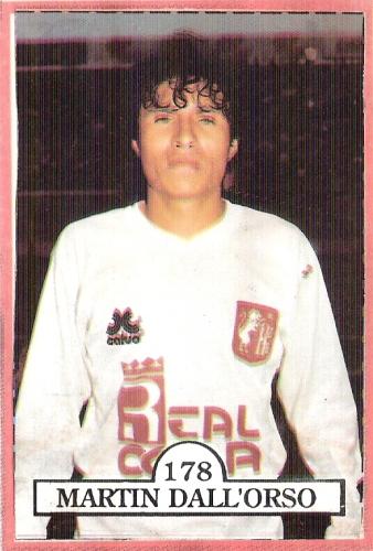 Martín Dall'Orso era el goleador de León en 1992 (Cromo: álbum Las Estrellas del Fútbol, revista Estadio)