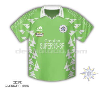 La cuarta camiseta que hizo Match para IMI en un solo año: verde con vivos blancos (Ilustración: Sandro Mena / DeChalaca.com)