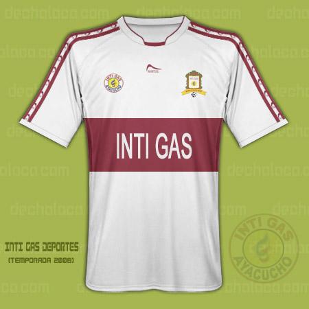 La camiseta de Inti Gas Deportes, confeccionada por Martel y auspiciada por la misma empresa matriz del club (Ilustración: Sandro Mena / DeChalaca.com)