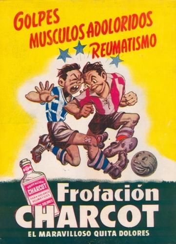 Publicidad de Charcot que apareció en el primer número de la revista Equipo (1947) y, luego de un largo paréntesis, reapareció para quedarse hasta el último número de dicha publicación (Imagen: revista Equipo)