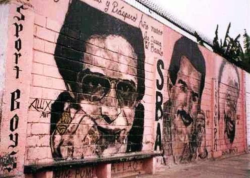 La imagen de Héctor Lavoe es respetada en el Callao donde se lo asocia con los colores rosados del primer puerto (Foto: elurbanito-lima.blogspot.com)