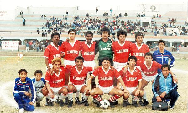 Recién ascendido de la Copa Perú, uno de los equipos del Lau Chun en 1988 con la camiseta titular que lo caracterizó (Foto: Facebook)