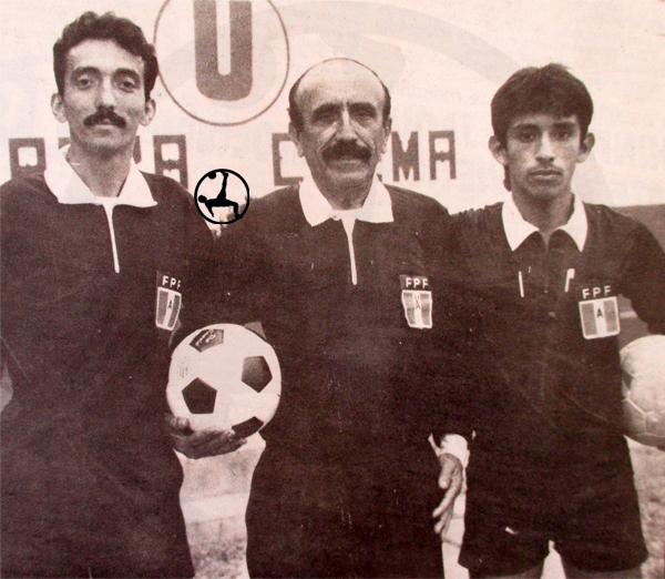 La terna formada por Raúl Gonzales, Luis Gonzales y Juan Diego Gonzales que se encargó de arbitrar el partido entre Boys y Espinosa en el Lolo Fernández (Recorte: diario Ojo)