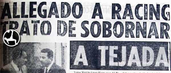 Recorte de La Crónica en un hecho que marcó un escándalo. (Recorte: diario La Crónica)