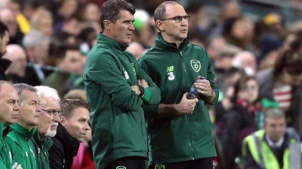Roy Keane y Martin O'Neill no coincidieron temporalmente como jugadores, aunque sí estuvieron juntos en el banquillo de Irlanda -como asistente y DT, respectivamente- en esta década. (Foto: Eurosport)