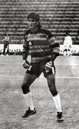 Balerio con la camiseta de Sipesa en 1993, año en que convirtió su único gol jugando en el Perú (Foto: revista Estadio, N° 79 p. 24)