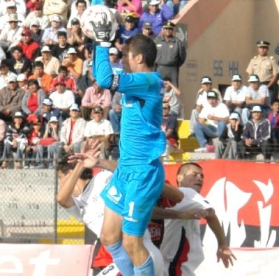 Leao Butrón es el número '1' de la San Martín y el arco peruano por estos días (Foto: Prensa FBC Melgar)