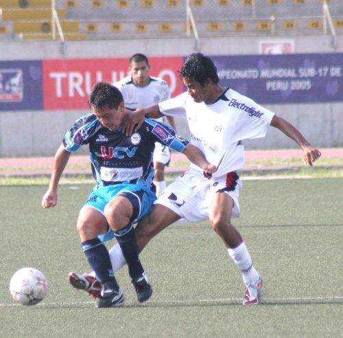 David Soria es titular en el lateral izquierdo de Vallejo, posición más retrasada que la que ocupó con la camiseta de Cristal (Foto: diario La Industria de Trujillo)