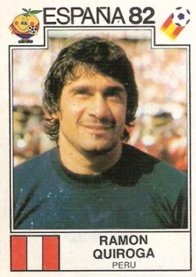 Ramón Quiroga, el único golero 'peruano' que jugó dos mundiales (Foto: álbum España 1982, Panini)