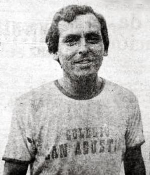 Pedro Montoya, el utilero de San Agustín que pasó a la historia del fútbol peruano por haber actuado también como jugador (Recorte: diario Hoy)