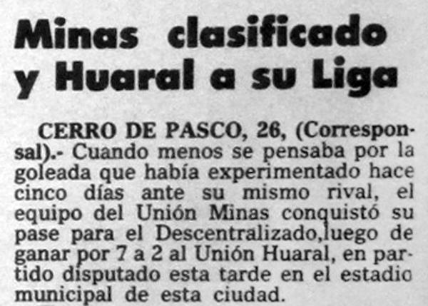 (Recorte: diario El Comercio)