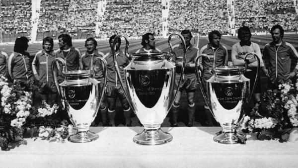 Las tres 'Orejonas' conseguidos por la generación dorada de Bayern entre 1974 y 1976. (Foto: uefa.com)