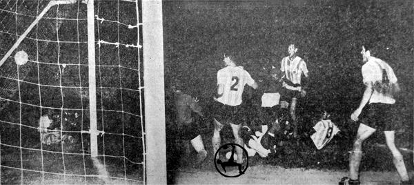 Racong Club fue víctima del primer triunfo de Cristal en la Libertadores (Recorte: diario La Prensa)