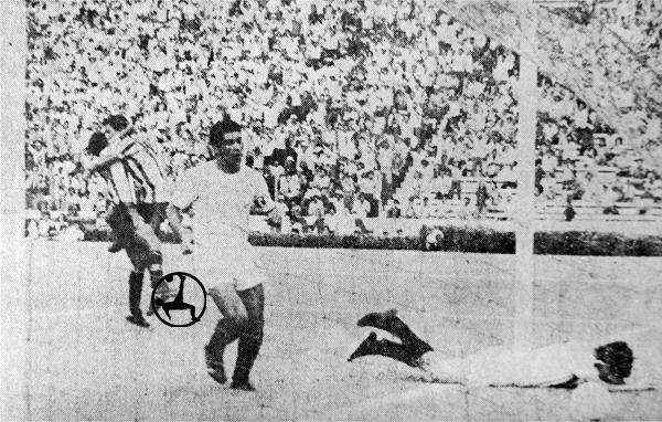 Unión Huaral celebra el gol de Alejandro Luces en su debut contra la 'U' (Recorte: diario El Comercio)