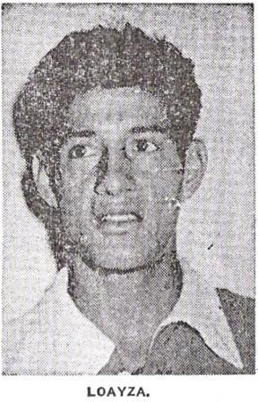 'Miguelito' Loayza: acaso el que mayores aplausos arrancó por sus fintas ante los ingleses (Recorte: diario La Crónica, 14/05/59)