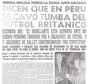 Lo de siempre: el titular exagerado y magnificando aquello que debió servir para construir a largo plazo (Recorte: diario La Crónica, 19/05/59)