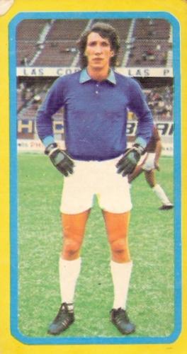 Néstor Verderi era garantía de seguridad en el arco granate (Cromo: álbum Fútbol 75, Editorial Navarrete)