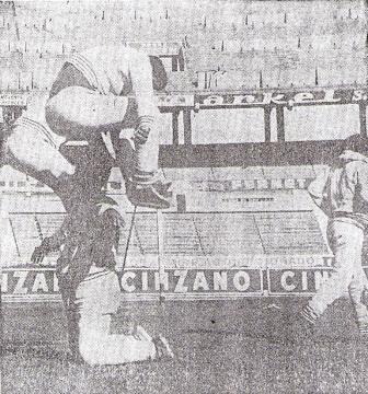 La 'U' entrenando en el Monumental de River el día anterior a su partido contra los millonarios (Foto: diario La Prensa)