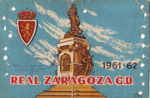 Estampilla del Zaragoza en la temporada 1961-1962 (Imagen: nuestrozaragoza.com)