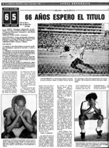 Así informó La Prensa Gráfica, principal diario salvadoreño, acerca del título del cuadro pampero en 1989 (Recorte: laprensagrafica.sv)