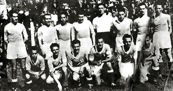 El equipo de la 'U' de Chile que en 1938 se estrenó en la máxima categoría del fútbol chileno (Foto: uestadisticas.cl)