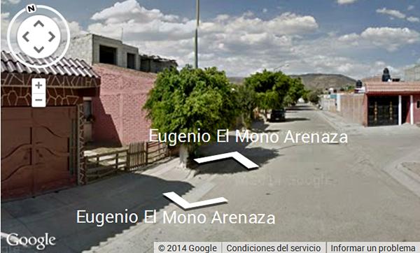 Vista de la calle Eugenio El Mono Arenaza en Villas de San Juan, México. (Foto: Google Street View)