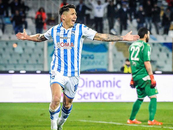 Gianluca Lapadula dio la hora en 2015. (Foto: prensa Pescara Calcio)
