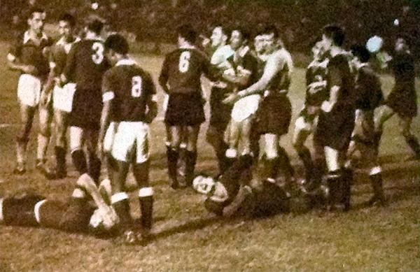 Una escena del segundo partido entre la selección de Caracas y la Roma (Foto: asromaultras.org)