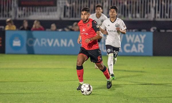 Collin Fernández cambió de club pero no perdió relativo protagonismo en la USL. (Foto: Prensa St. Louis FC)