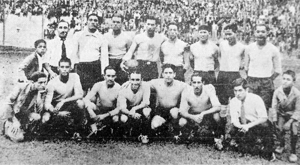 El once titular de Sport Boys el día que ganó el título venciendo al Sucre (Recorte: diario La Prensa)