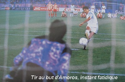 El experimentado Amorós yerra el penal decisivo en la tanda definitoria y el Marsella pierde el título de 1990-1991 ante el Estrella Roja (Foto: om4ever.com)