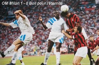 La revancha de Boli: su cabezazo ante el Milan que dio al Marsella la Champions League 1992-1993 (Foto: om4ever.com)