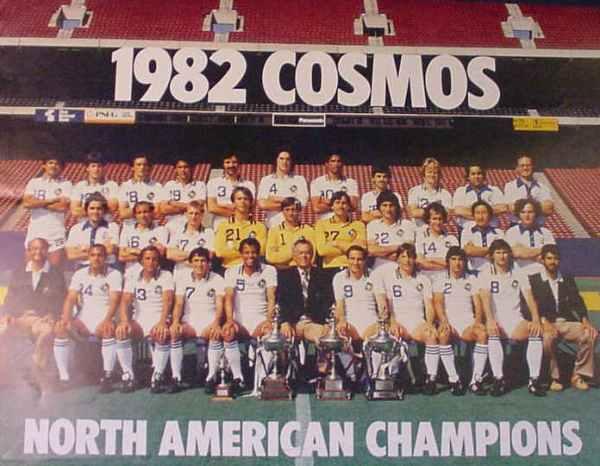 El último equipo campeón del Cosmos, en 1982 (Foto: nasljerseys.com)