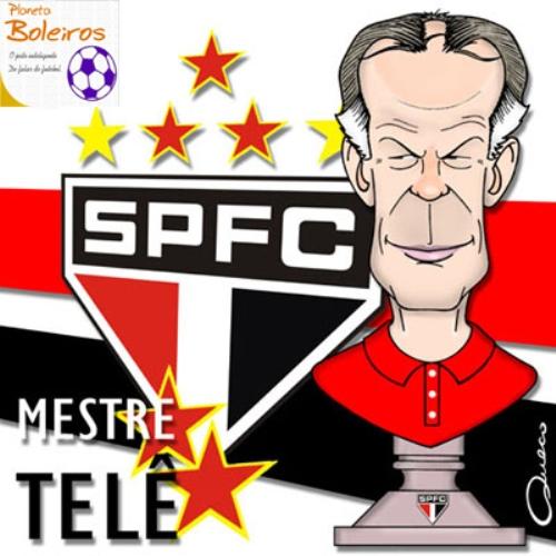 Telé Santana inmortalizado en el recuerdo de los hinchas tricolores (Imagen: omaisquerido.br)