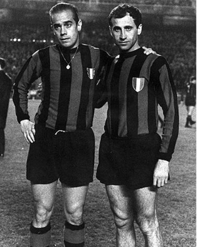 Suárez y Peiró: la armada española del Inter (Foto: retrofootball.com)
