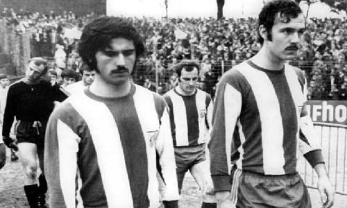 ¿Los reconoce? Son Gerd Müller y Franz Beckenbauer, con 'look' de finales de los '60. Y claro, con camiseta del Bayern (Foto: la-redó.net)
