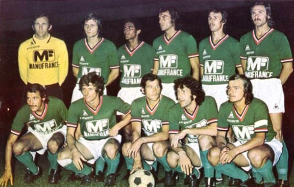 Equipo verde del Saint Etienne que se coronó campeón en el fútbol francés. Destacaban Curkovic, Piazza, Janvion, Bathenay y Rocheteau (Foto: pari-et-gagne.com)