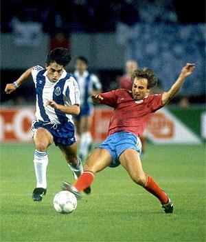 Paulo Futre era uno de los jugadores más importantes de aquel Porto. Había llegado del Sporting un par de temporadas antes. (Foto: Cannon).