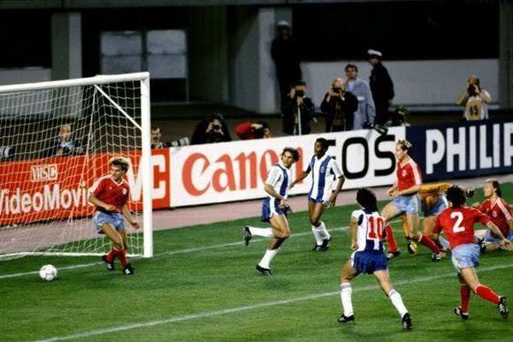 Madjer anotó el primer gol de taco. De acuerdo con una entrevista que concedió años después, señaló que la gente recuerda vez que alguien mete un gol de taco como un gol