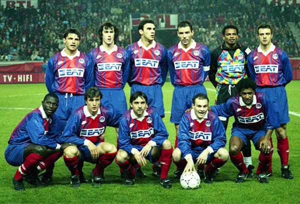 Un once del PSG en 1994 en el que destacan rostros como Bernard Lama, George Weah y el brasileño Valdo (Foto: Icon Sport)