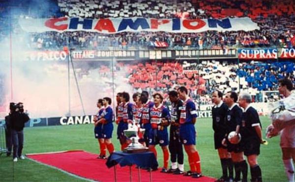 La celebración por la reconquista del título en Francia fue grande entre los seguidores del PSG (Foto: psg70.free.fr)