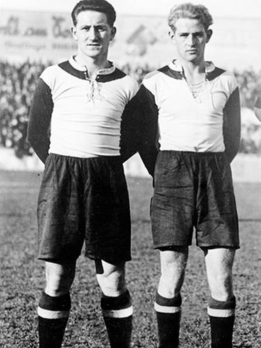 Josef Bergmaier y Franz Krumm, dos de los puntales del Bayern campeón que luego, en la Segunda Guerra Mundial, perdieron la vida en batalla (Foto: br.de)